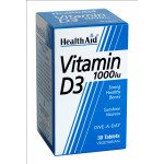 Healthaid vitamin D supplements vitamin D tablets 1000iu 30 pack