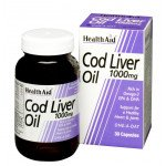 Healthaid supplements cod liver oil one-a-day capsules 1000mg 30 pack