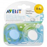 AVENT SOOTHERS - 0-6 MONTHS FREEFLOW PLAIN