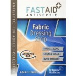 Fastaid plasters fabric dressing strip 6.3cm x 1m