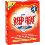 Deep heat pain relief heat patch 4 pack