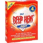 Deep heat pain relief heat patch 4 pack