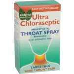 Ultra chloraseptic anaesthetic throat spray original menthol 0.71% 15ml