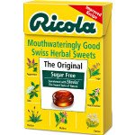 Ricola swiss herb drops sugar-free original herb box with stevia 45g