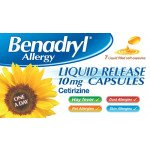 Benadryl allergy liquid release capsules 10mg 7 pack