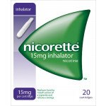 Nicorette inhalator with mouthpiece white 15mg 20 pack
