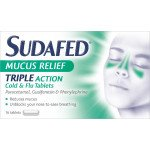 Sudafed mucus relief triple action tablets 16 pack