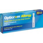 Opticrom single dose allergy eye drops 2% 0.3ml 20 pack