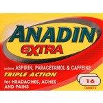 ANADIN EXTRA TABS 16