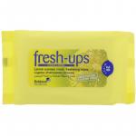 Fresh ups moist tissues citrus lemon 20 pack