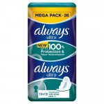 Always ultra sanitary towels normal plus duo 26 pack