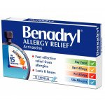 Benadryl capsules allergy relief 8mg 12 pack