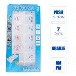 FORTUNA PILL BOX PUSH BUTTON AM/PM 7 DAYS