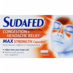 Sudafed max strength capsules 16