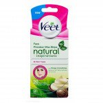 Veet cold wax leg strips natural inspirations with shea butter face 20 pack