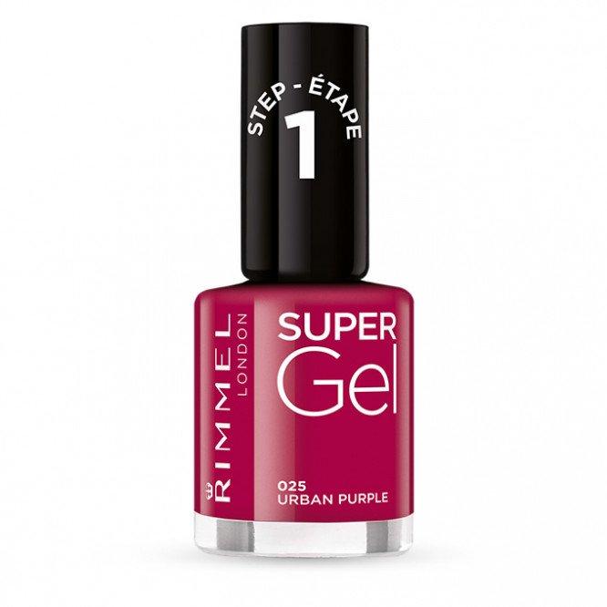 Rimmel nail care nail polish super gel urban purple