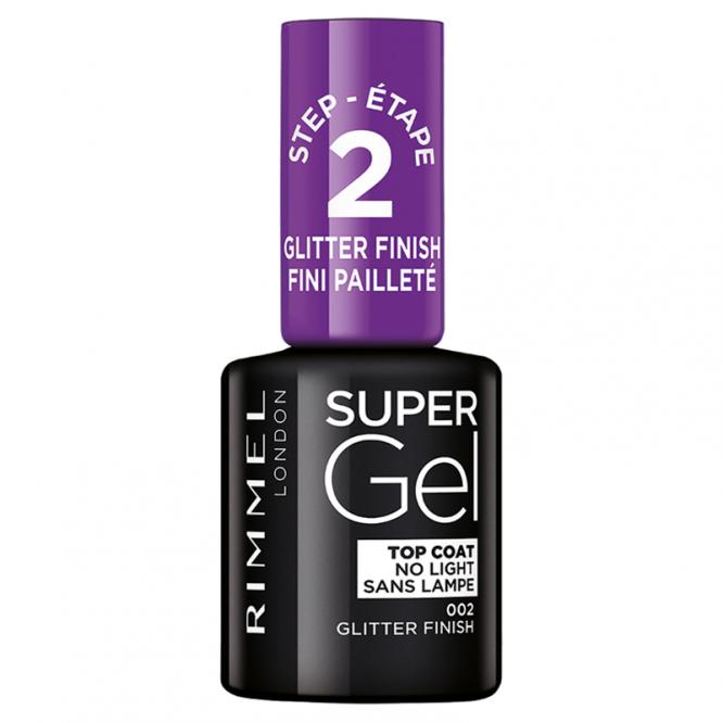 Rimmel Super Gel Nail Polish Step 2 002 Glitter Finish