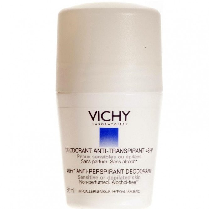 Vichy deodorant roll-on sensitive depilated skin 50ml