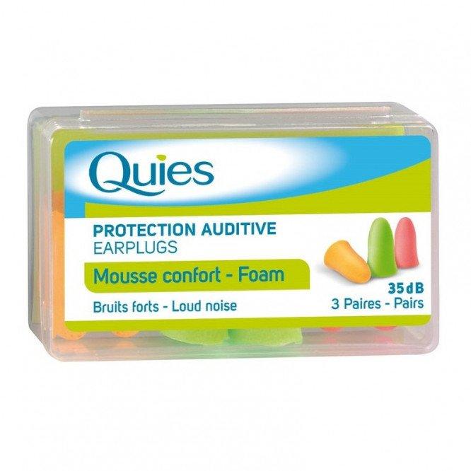 QUIES ear plugs soft foam 3 pairs