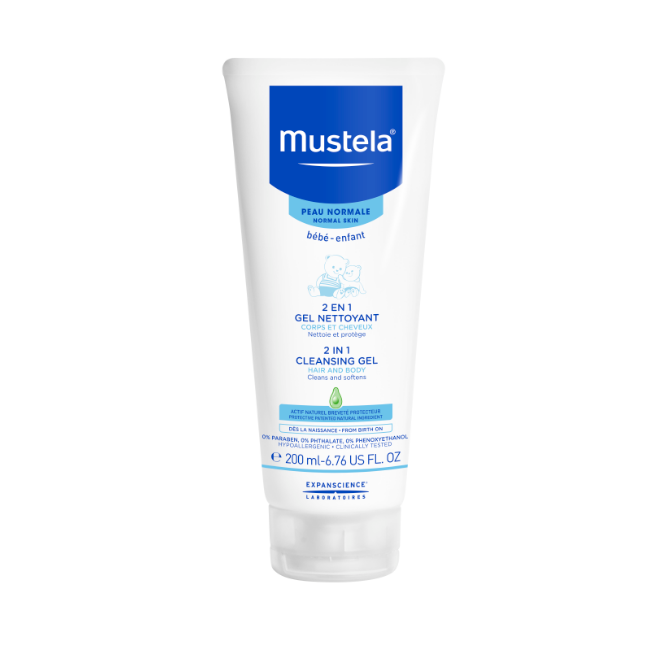 MUSTELA 2 in 1 CLEANSING GEL HAIR AND BODY