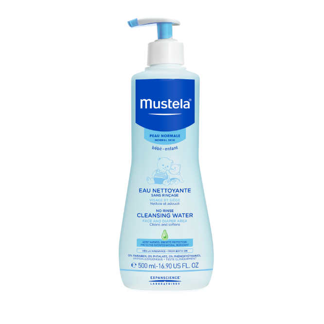 MUSTELA NO RINSE CLEANSING WATER
