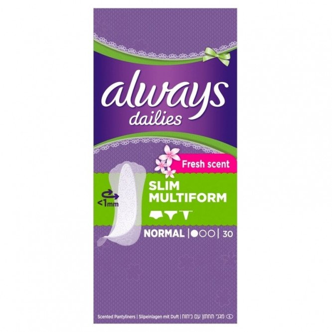 Always incontinence range incredibly thin scented liner flexistyle 30 pack
