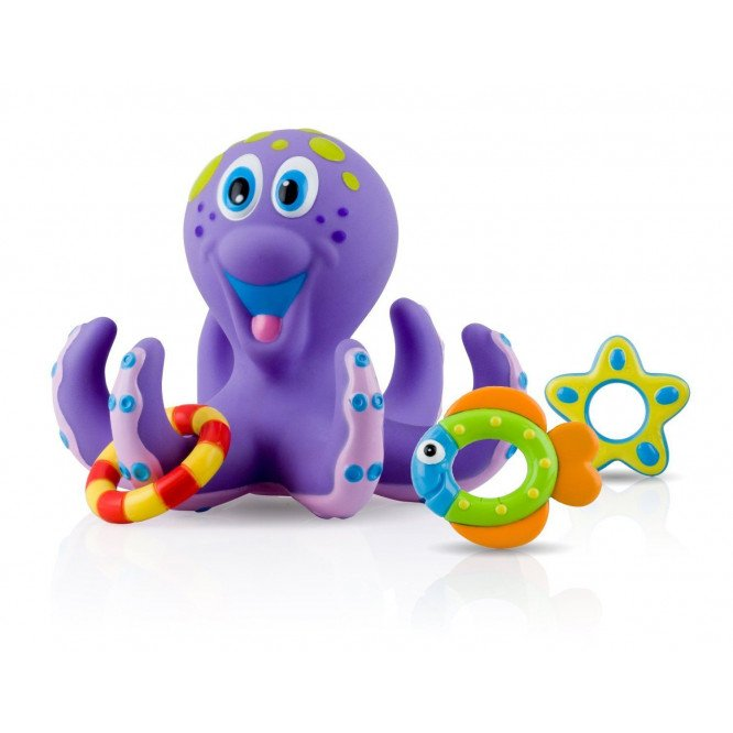 NUBY OCTOPUS FLOATING BATH TOYS