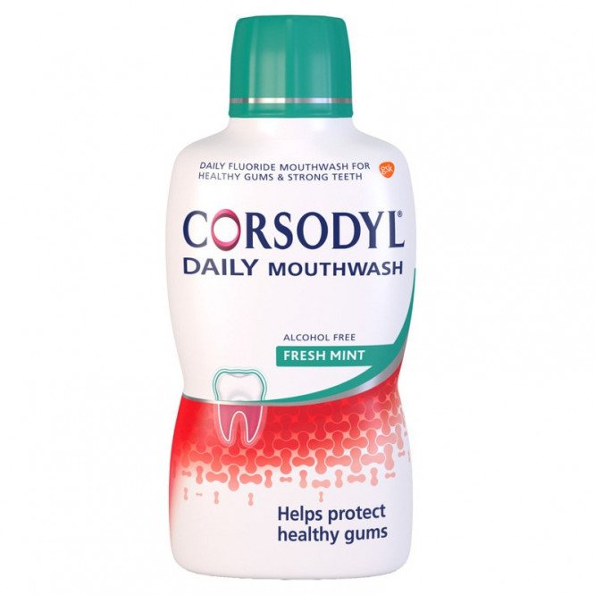 Corsodyl mouthwash freshmint alcohol free 500ml