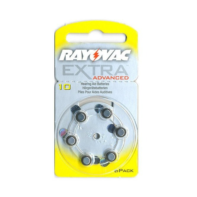 RAYOVAC HEARING AID BATTERIES- EXTRA ADVANCED 10