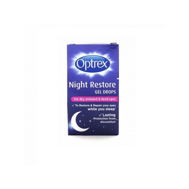 Optrex eye care eye drops for night restore gel drops 10ml