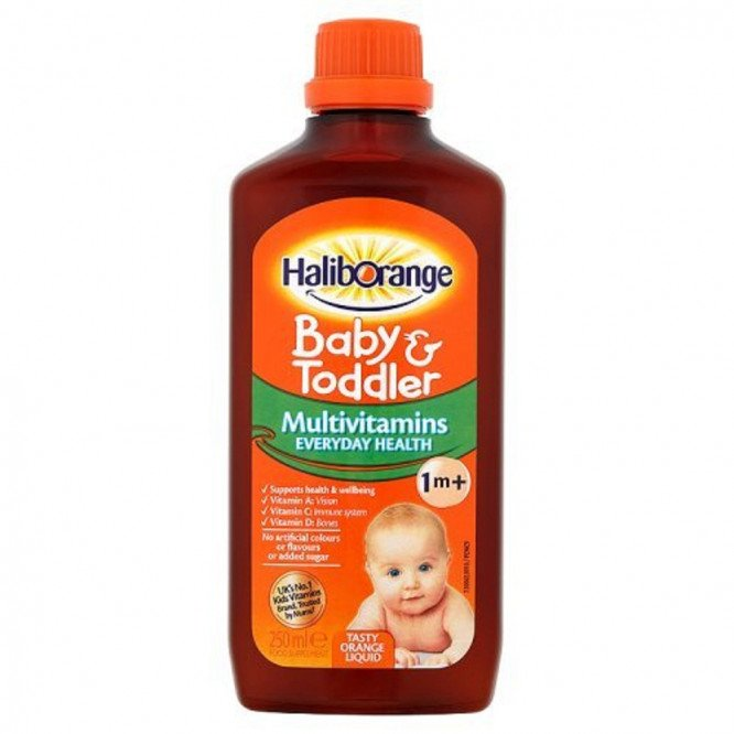 Haliborange multivitamin liquid baby & toddler liquid 250ml