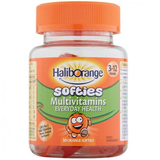 Haliborange multivitamin tablets softies orange 30 pack
