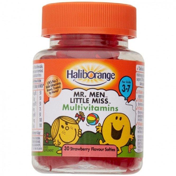 Haliborange multivitamin tablets mr happy 30 pack
