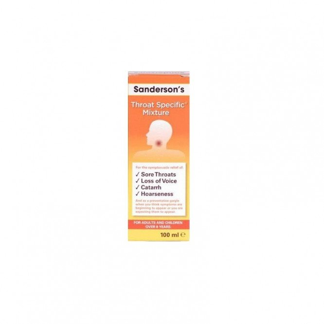 Sanderson's throat specific mixture 100ml