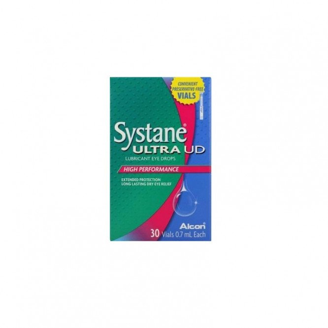 Systane ultra lubricating eye drops 0.7ml 30 pack