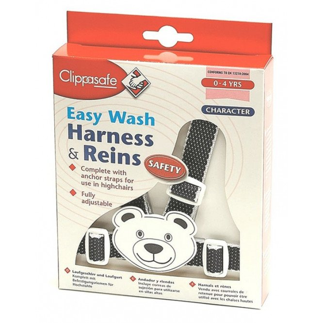 CLIPPASAFE HARNESS/REINS TEDDY