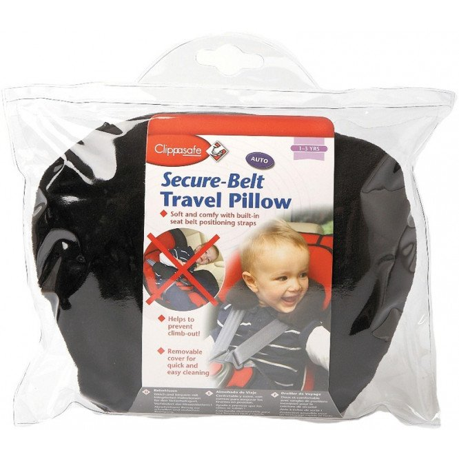 CLIPPASAFE SECURE -BELT TRAVEL PILLOW