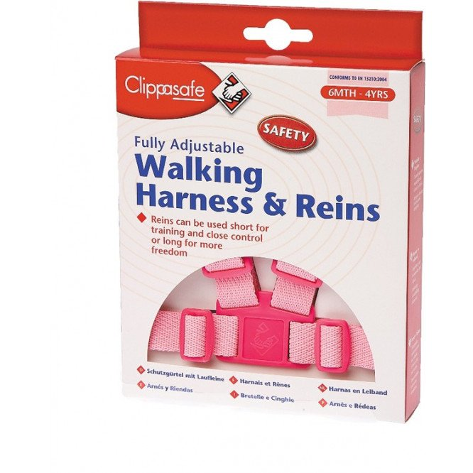 CLIPPASAFE EASYWASH HARNESS PINK