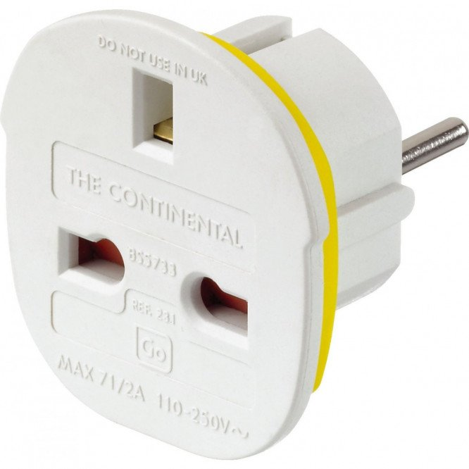 Go Travel Continental Adaptor