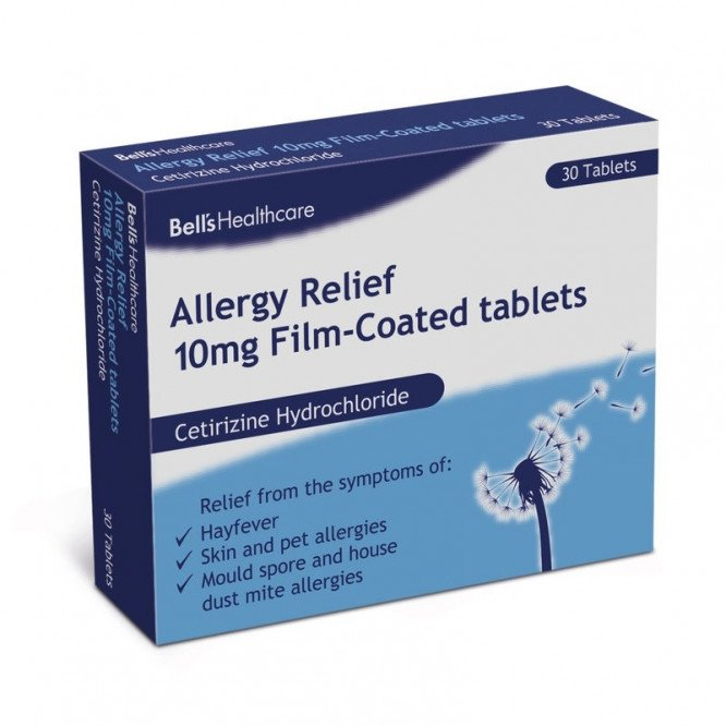 BELL'S hayfever & allergy relief tablets 10mg 30