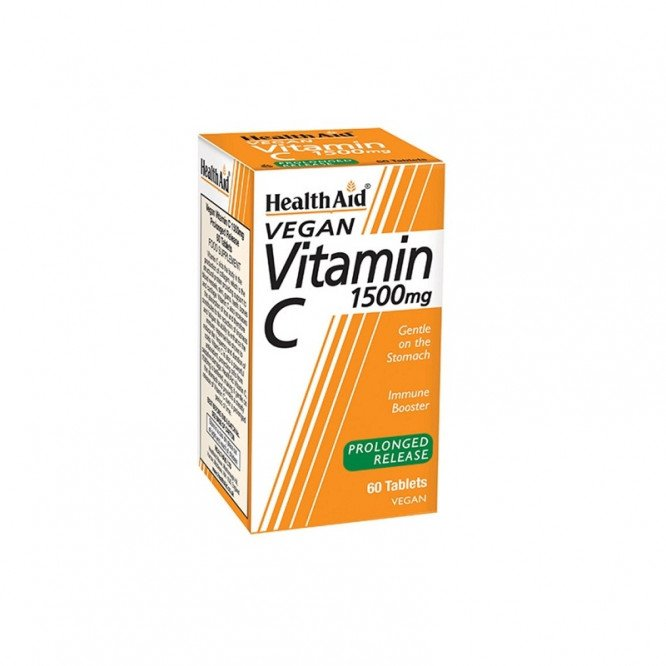 Healthaid vitamin C supplements vit C prolonged release tablets 1500mg 60 pack