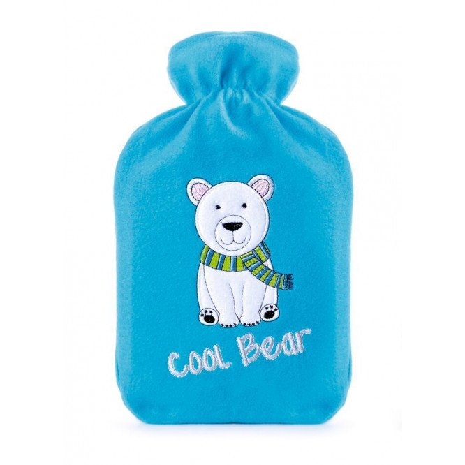KS BRANDS HOT WATTER BOTTLE - RED/HOT DOG BLUE/COOL BEAR