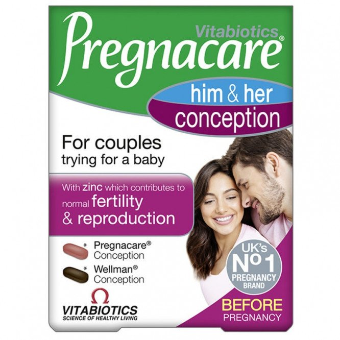 Pregnacare conception his & hers 60 pack
