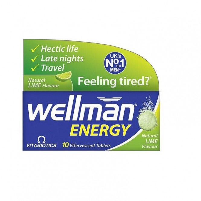 Wellman energy tablets orange 10 pack