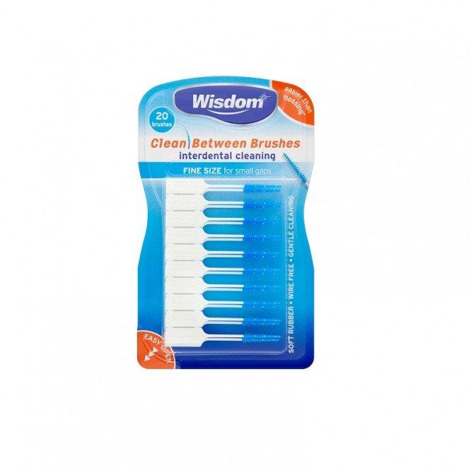 Wisdom clean between interdental brushes 20 pack