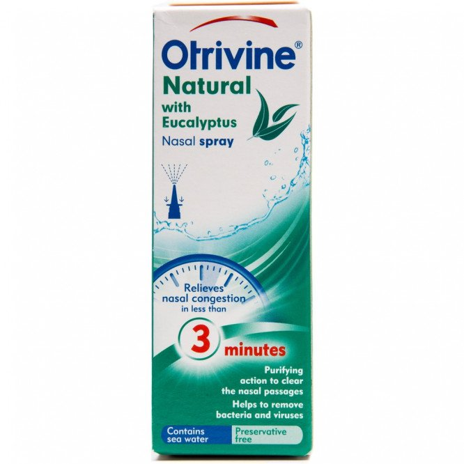 Otrivine adult nasal spray natural with eucalyptus 20ml