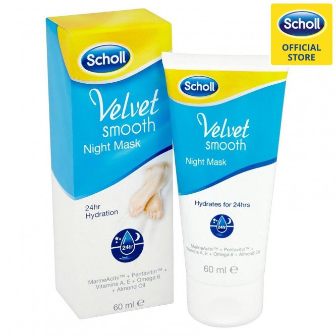 SCHOLL VELVET SMOOTH NIGHT MASK CREAM 60MLX4