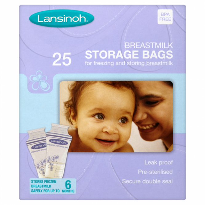 Lansinoh breast milk storage bags 25 pack