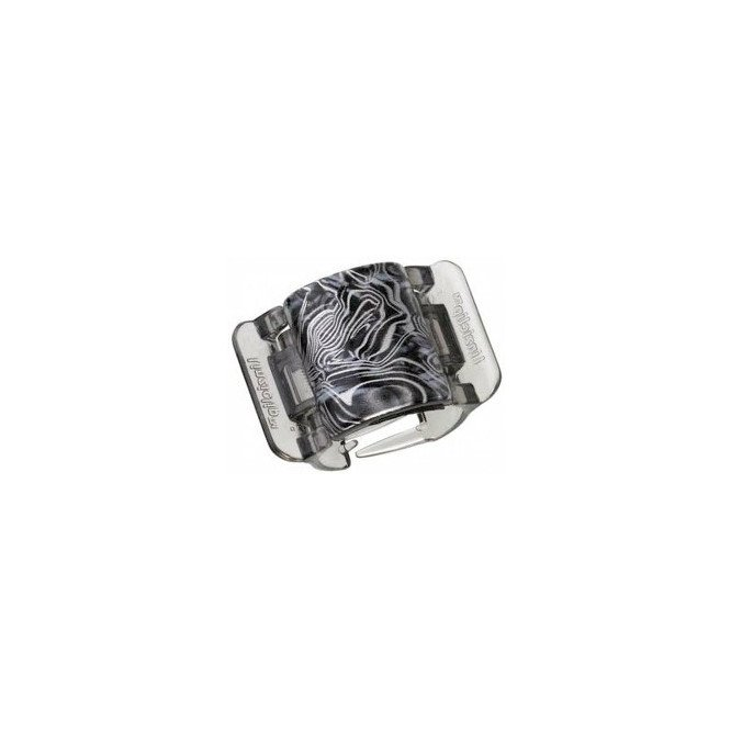 LINZICLIP BLACK & GREY SWIRL MIDI CLAMPS