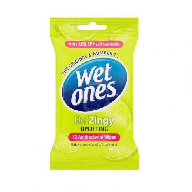 Wet ones cleansing wipes travel zesty fresh 12 pack